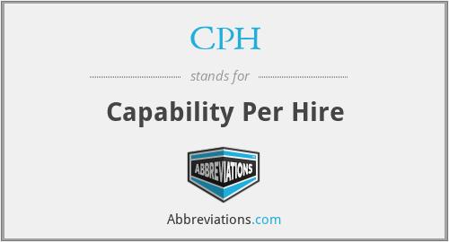 CPH - Capability Per Hire