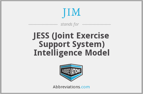 JIM - JESS (Joint Exercise Support System) Intelligence Model