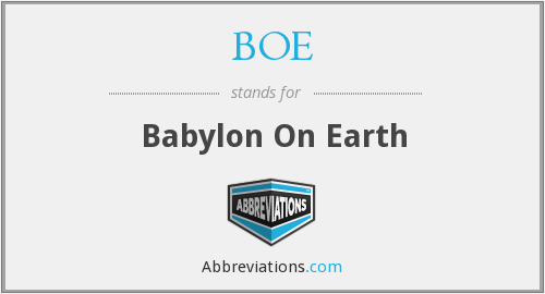 BOE - Babylon On Earth