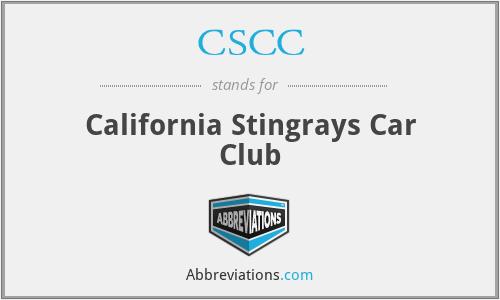 CSCC - California Stingrays Car Club