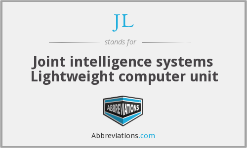 JL - Joint intelligence systems Lightweight computer unit