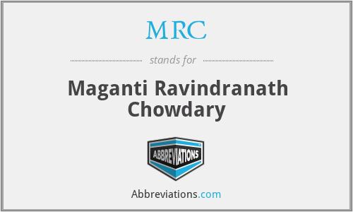 MRC - Maganti Ravindranath Chowdary