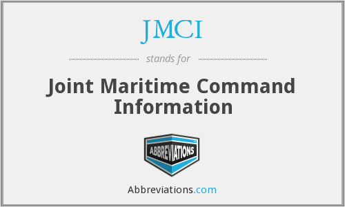 JMCI - Joint Maritime Command Information