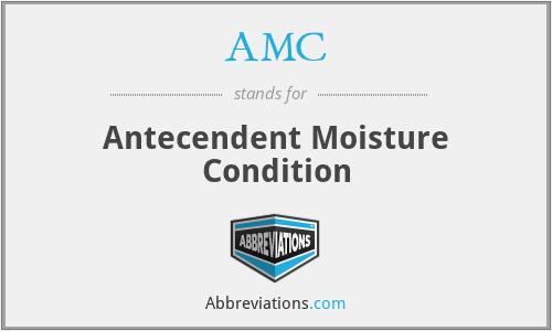 AMC - Antecendent Moisture Condition