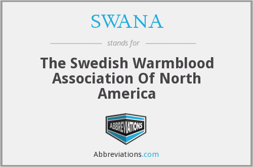 SWANA - The Swedish Warmblood Association Of North America