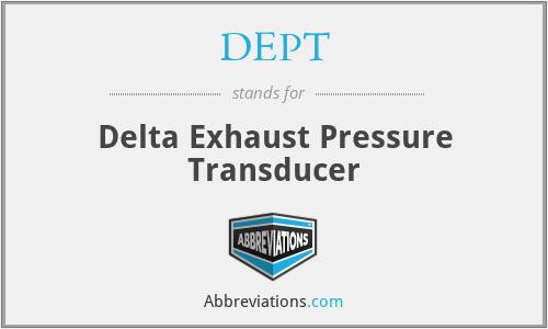 DEPT - Delta Exhaust Pressure Transducer