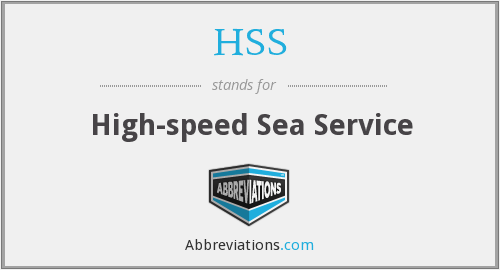 HSS - High-speed Sea Service