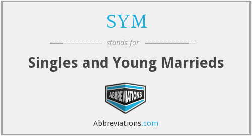 SYM - Singles and Young Marrieds