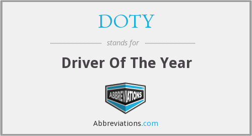DOTY - Driver Of The Year