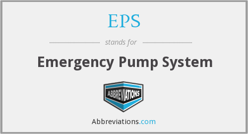 EPS - Emergency Pump System