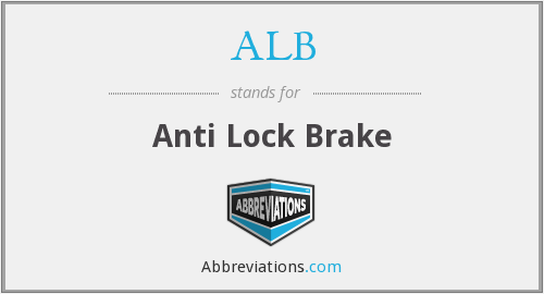 ALB - Anti Lock Brake
