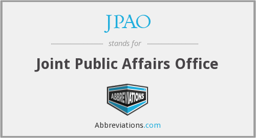 What does JPAO stand for?