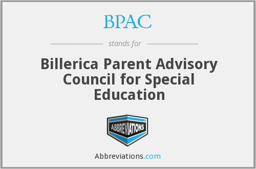 BPAC - Billerica Parent Advisory Council for Special Education