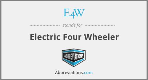 E4W - Electric Four Wheeler