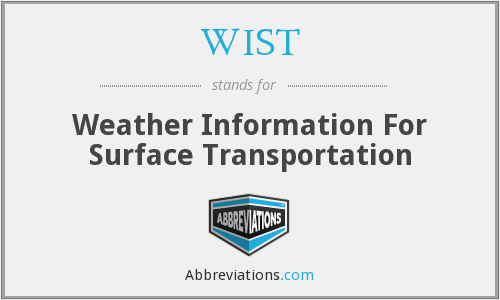 WIST - Weather Information For Surface Transportation