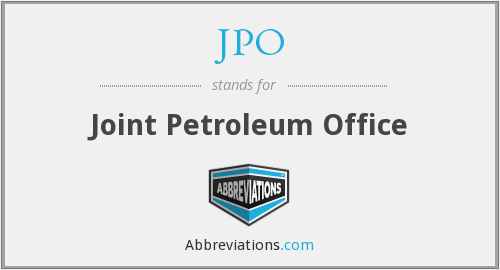 JPO - Joint Petroleum Office