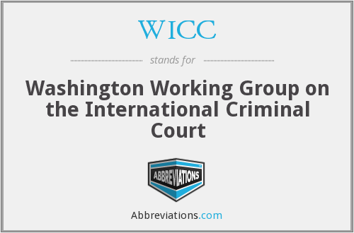 WICC - Washington Working Group on the International Criminal Court