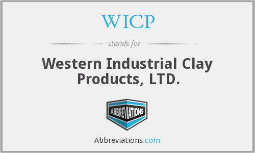 WICP - Western Industrial Clay Products, LTD.