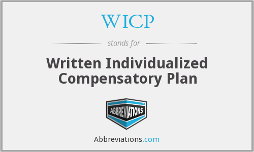 WICP - Written Individualized Compensatory Plan