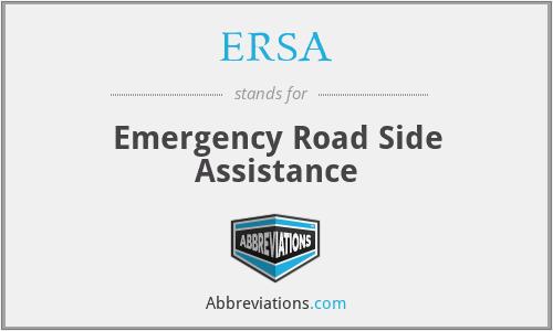 ERSA - Emergency Road Side Assistance