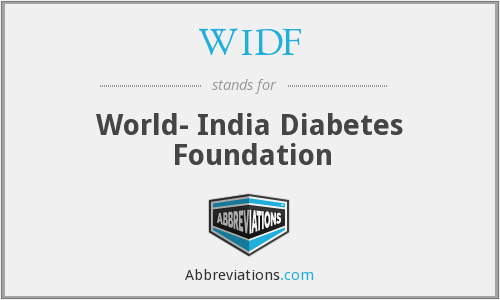 WIDF - World- India Diabetes Foundation