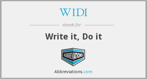 What does WIDI stand for?