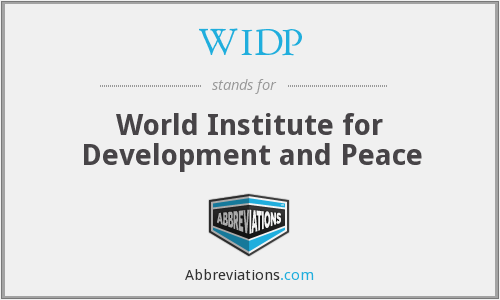 WIDP - World Institute for Development and Peace