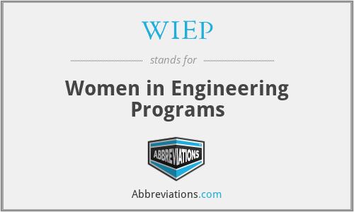 WIEP - Women in Engineering Programs