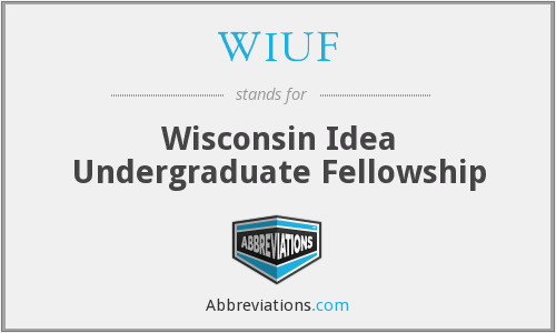 WIUF - Wisconsin Idea Undergraduate Fellowship