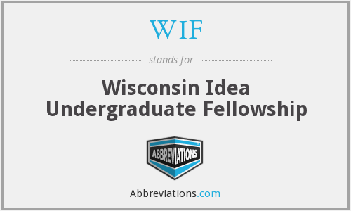 WIF - Wisconsin Idea Undergraduate Fellowship