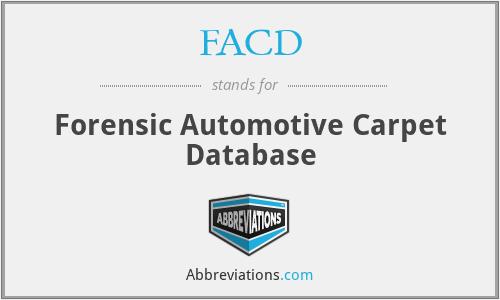 FACD - Forensic Automotive Carpet Database