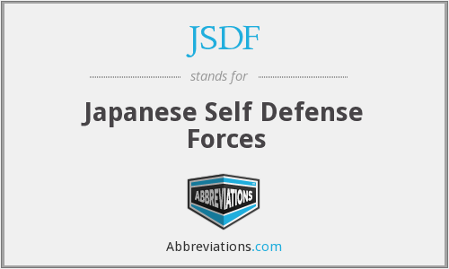 JSDF - Japanese Self Defense Forces
