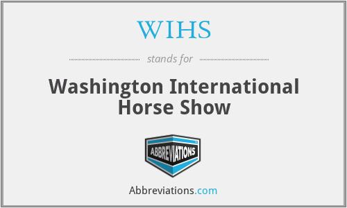 WIHS - Washington International Horse Show