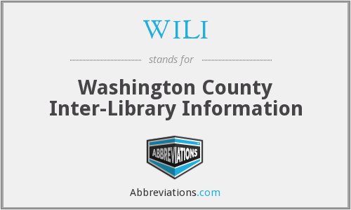 WILI - Washington County Inter-Library Information