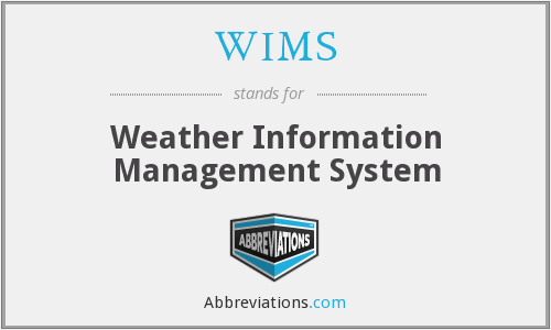 WIMS - Weather Information Management System