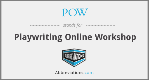 POW - Playwriting Online Workshop