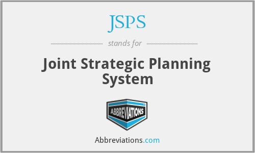 JSPS - Joint Strategic Planning System