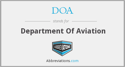 DOA - Department Of Aviation