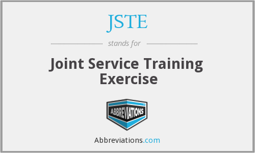 JSTE - Joint Service Training Exercise