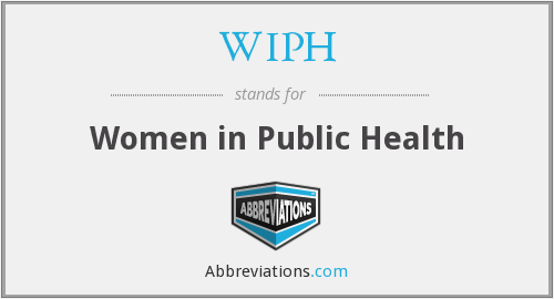 WIPH - Women in Public Health