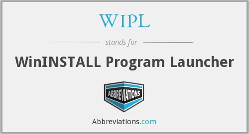WIPL - WinINSTALL Program Launcher