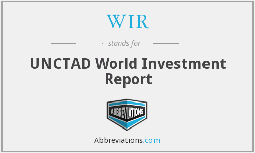 WIR - UNCTAD World Investment Report