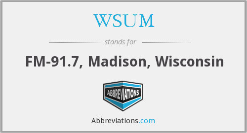 WSUM - FM-91.7, Madison, Wisconsin