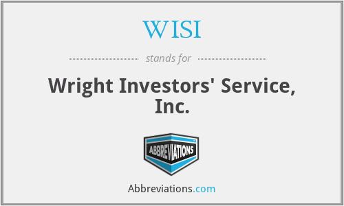 WISI - Wright Investors' Service, Inc.