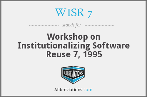 What does WISR 7 stand for?