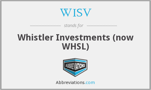What does WISV stand for?