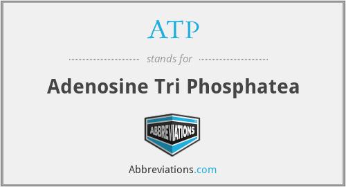 ATP - Adenosine Tri Phosphatea