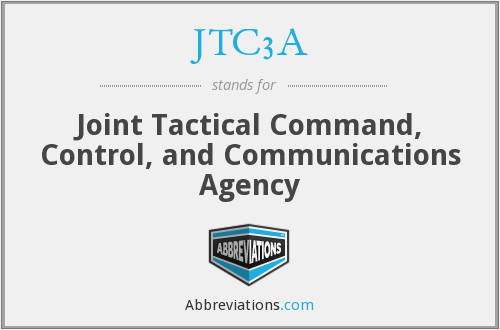 JTC3A - Joint Tactical Command, Control, and Communications Agency