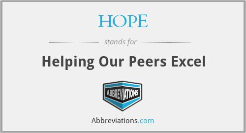 HOPE - Helping Our Peers Excel