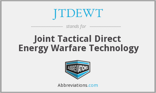 What does JTDEWT stand for?